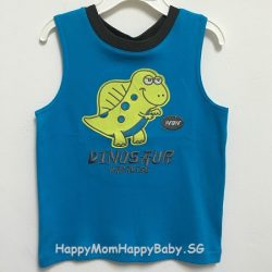 Sleeveless Dinosaur Blue
