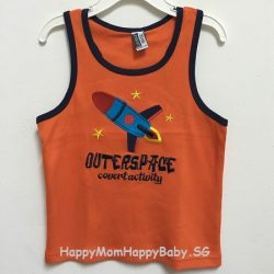 Sleeveless Outerspace Orange