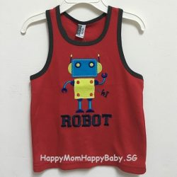 Sleeveless Robot Red