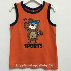 Sleeveless Sports Orange