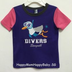 Tee Divers Seagull Purple