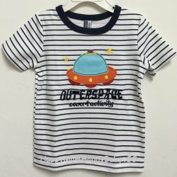 Tee Outerspace Strips White