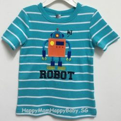 Tee Robot Strips Blue