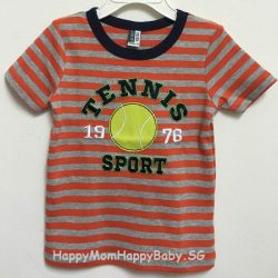 Tee Tennis Sport Strips Orange